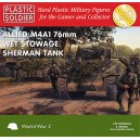 Allied M4A1 76mm Wet Stowage Sherman Tank 1/72(3)