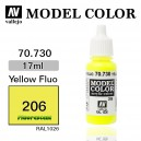 Vallejo Model Color Yellow Fluo (206)