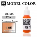 Vallejo Model Color Transparent Orange