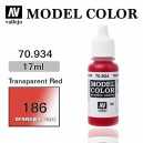 Vallejo Model Color Transparent Red