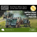 British 25PDR gun & Morris Quad Tractor 15mm(48+12)