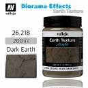 Vallejo Earth Texture Dark Earth 200ml